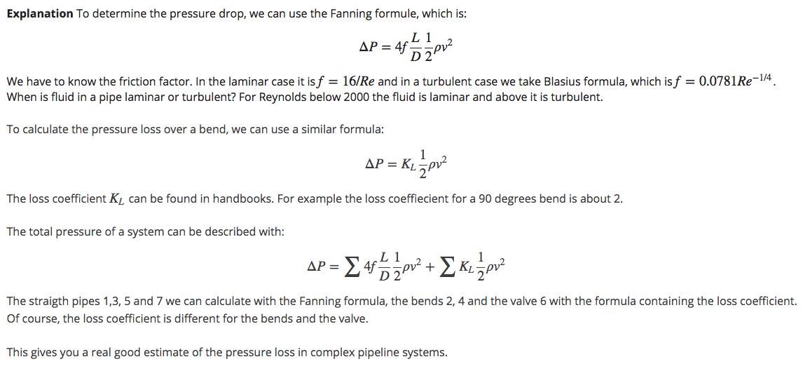 2 3 4 Example A: Pressure loss in complex systems - TU Delft OCW